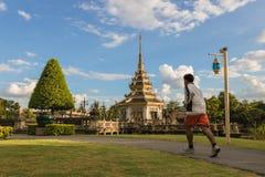 Funcionamiento en el parque Autthayan-chalerm-karnchanapisek Fotos de archivo