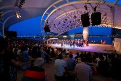 Funcionamiento en el teatro al aire libre Singapur de la explanada Fotos de archivo