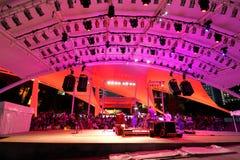 Funcionamiento en el teatro al aire libre Singapur de la explanada Imagen de archivo libre de regalías