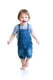 Funcionamiento feliz del niño pequeño Foto de archivo libre de regalías