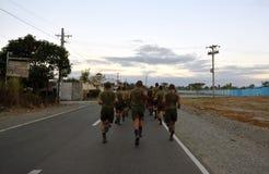 Funcionamiento filipino del ejército Imagen de archivo libre de regalías