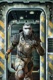 Funcionamiento futurista del soldado ilustración del vector