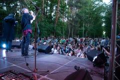Funcionamiento grupo de rock ` Chumatsky Shlyakh ` del 10 de junio de 2017 en Cherkassy, Ucrania fotografía de archivo libre de regalías