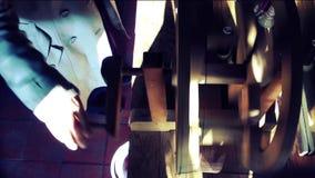 Funcionamiento hecho a mano hecho girar de la materia textil de la alfombra del vintage de seda de la máquina almacen de video