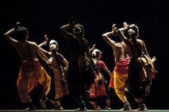 Funcionamiento indio de la danza popular Foto de archivo