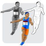 Funcionamiento joven del atleta Foto de archivo libre de regalías