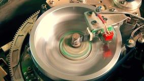 Funcionamiento magnético de la ventaja de la cinta del Vcr del Vhs Cierre para arriba metrajes