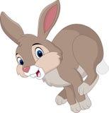 Funcionamiento marrón del conejo de la historieta stock de ilustración