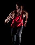 Funcionamiento masculino joven del atleta Imagen de archivo libre de regalías