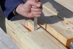 Funcionamiento mayor del carpintero Fotografía de archivo