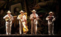Funcionamiento mexicano de los músicos Foto de archivo libre de regalías