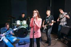 Funcionamiento musical de la banda, afición, ocio fotos de archivo libres de regalías