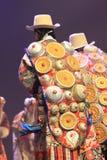 Funcionamiento nacional tradicional chino del traje Imagen de archivo libre de regalías