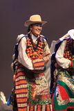 Funcionamiento nacional tradicional chino del traje Foto de archivo libre de regalías