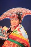 Funcionamiento nacional tradicional chino del traje Fotografía de archivo libre de regalías