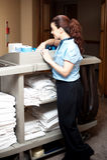 Funcionamiento ocupado ejecutivo de las operacíones de entretenimiento bonitas Foto de archivo