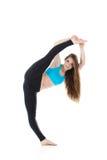 Funcionamiento profesional del ejercicio gimnástico Fotos de archivo