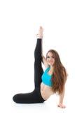 Funcionamiento profesional del ejercicio gimnástico Foto de archivo libre de regalías