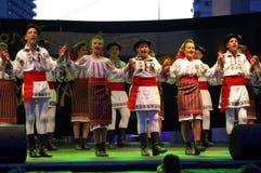 Funcionamiento rumano del grupo del folclore Imagen de archivo libre de regalías