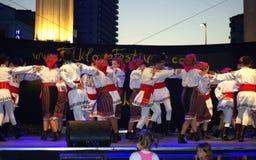Funcionamiento rumano del grupo del folclore Foto de archivo