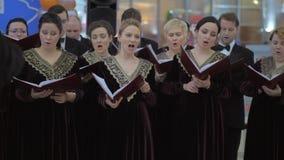Funcionamiento ruso del coro almacen de metraje de vídeo