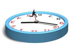 Funcionamiento y salto sobre la segunda mano en el reloj Foto de archivo libre de regalías