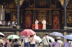 Funcionamientos de la ópera del Cantonese imágenes de archivo libres de regalías