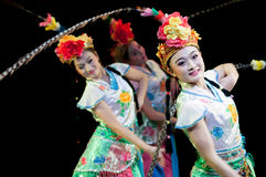 Funcionamientos de la danza de la ópera de China, Pekín Foto de archivo libre de regalías