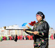Funcionamientos de la danza de Yangko Fotos de archivo libres de regalías