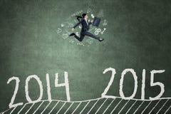 Funcionamientos de la empresaria con el número 2014 a 2015 Fotografía de archivo libre de regalías
