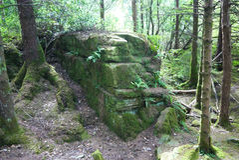 Funcionamientos del templo en el bosque fotografía de archivo libre de regalías