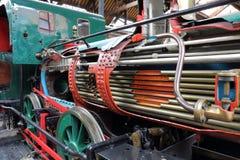 Funcionamientos internos del tren del vapor Imagenes de archivo