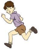 Funcionando uma criança ilustração stock