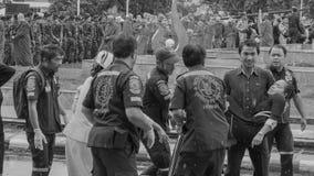 Funcionario tailandés de Krabi débil foto de archivo