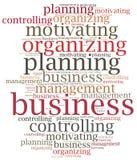 Funciones de gestión de negocio Ejemplo de la nube de la palabra ilustración del vector