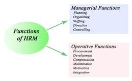 Funciones de HRM stock de ilustración