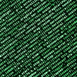 Funciones del Javascript, variables, objetos Supervise el primer del código fuente de la función Lugar de trabajo del especialist stock de ilustración