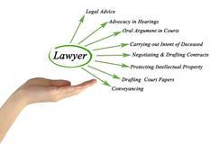 Functies van advocaat stock foto's