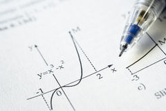Function graph royalty free stock images