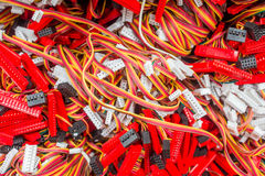 Function key TV wires. Background stock image