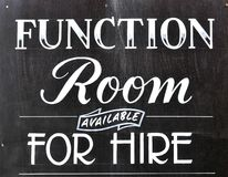 Function room Royalty Free Stock Photography