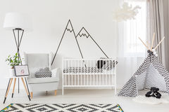 Functional baby room Stock Photos