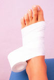 Functional bandage tibial tarsal Royalty Free Stock Image