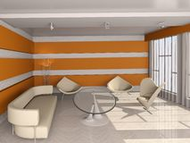 Functional design living room. Stock Images