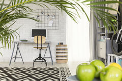 Functional flat with office area Stock Images