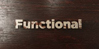 Functional - grungy wooden headline on Maple - 3D rendered royalty free stock image. This image can be used for an online website banner ad or a print postcard stock illustration