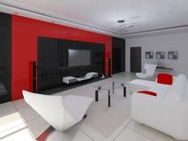Functional living room. Stock Image