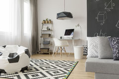 Functional teen room in a new style idea Stock Images