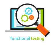 Functional testing software development process methodology. Vector stock illustration