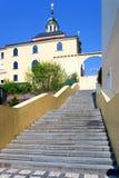 Functionalist stylowy schody łukiem J Gocar, dziejowy miasteczko Zdjęcia Stock